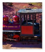 Vintage Red Calico Train Fleece Blanket