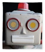 Vintage Robot 1 Dt Fleece Blanket