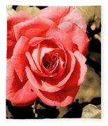Vintage Rose 02 Fleece Blanket