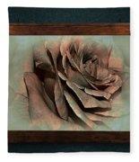 Vintage Rose On Old Wall 2 By Kaye Menner Fleece Blanket