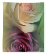 Vintage Roses 2 Fleece Blanket