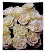 Vintage Roses Bouquet Fleece Blanket