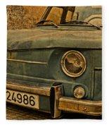 Vintage Rusty Renault Truck Fleece Blanket