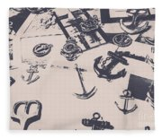 Vintage Sailing Art Fleece Blanket