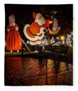 Vintage Santa Fleece Blanket
