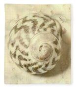 Vintage Seashell Still Life Fleece Blanket