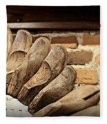 Vintage Shoe Forms Fleece Blanket