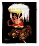 Vintage Sparkling Wine Advertisement Fleece Blanket