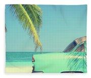 Vintage Summer Fleece Blanket