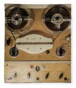 Vintage Tape Sound Recorder Reel To Reel Fleece Blanket