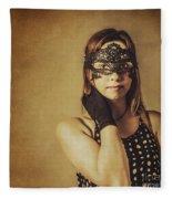 Vintage Theatre Show Girl  Fleece Blanket