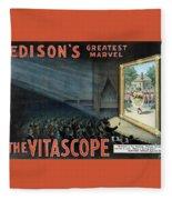 Vintage Thomas Edison Print - The Vitascope Fleece Blanket