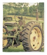 Vintage Tractor Keene New Hampshire Fleece Blanket
