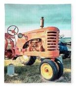 Vintage Tractors Acrylic Fleece Blanket