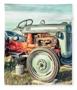 Vintage Tractors Pei Square Fleece Blanket