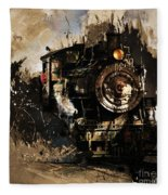Vintage Train 06 Fleece Blanket