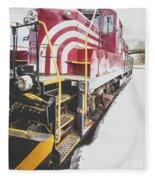 Vintage Train Locomotive Fleece Blanket