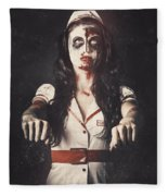 Vintage Walking Dead Horror Nurse Fleece Blanket