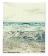 Vintage Waves Fleece Blanket