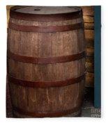 Vintage Wine Barrel Fleece Blanket