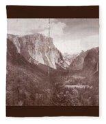 Vintage Yosemite Valley 1899 Fleece Blanket