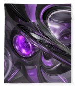 Violaceous Abstract  Fleece Blanket