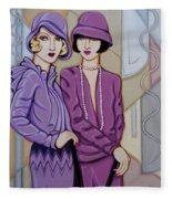 Violet And Rose Fleece Blanket