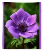 Violet Anemone Fleece Blanket