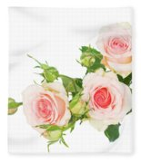 Garden Roses And Buds Fleece Blanket