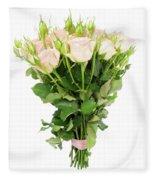Garden Roses Bouquet Fleece Blanket