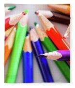 Violet. Colored Pencils Fleece Blanket