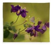 Violet Columbines Fleece Blanket