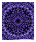 Violet Digital Mandala Fleece Blanket