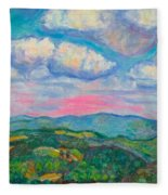 Violet Evening On Rocky Knob Fleece Blanket