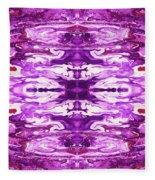 Violet Groove- Art By Linda Woods Fleece Blanket