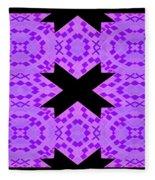 Violet Haze Abstract Fleece Blanket