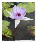 Violet Lotus Fleece Blanket