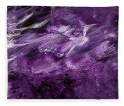 Violet Rhapsody- Art By Linda Woods Fleece Blanket