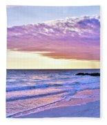 Violet Skies At Nighfall Fleece Blanket