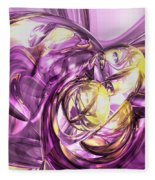 Violet Summer Abstract Fleece Blanket