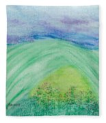 Violets In The Summertime Fleece Blanket