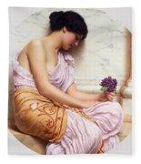 Violets Sweet Violets Fleece Blanket