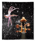 Violin And Ballet Dancer Number 1 Fleece Blanket