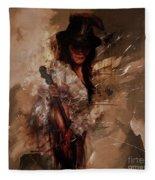 Violin Lady  Fleece Blanket