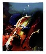 Violin Painting Art 321 Fleece Blanket