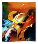 Violin Painting Art 51 Fleece Blanket