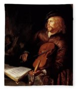 Violin Player 1653 Fleece Blanket
