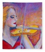 Violin Player Fleece Blanket