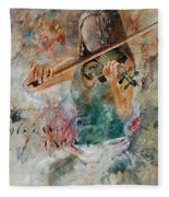 Violinist 56 Fleece Blanket