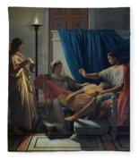 Virgil Reading The Aeneid Fleece Blanket